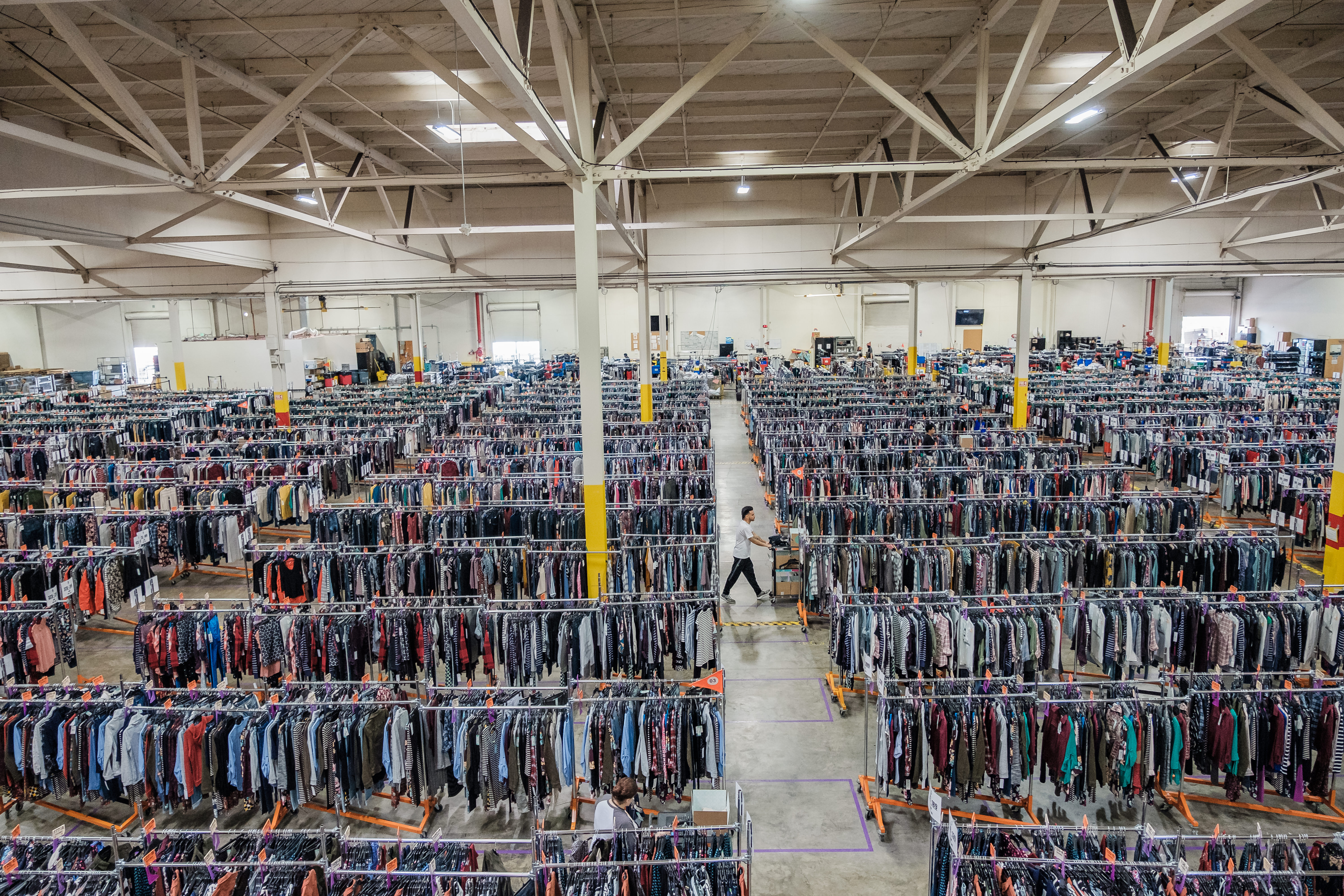 inside a Stitch Fix warehouse